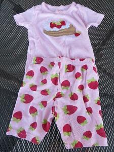 3 pairs girls size 3 short pajamas 2 Gymboree, 1 Calvin Klein
