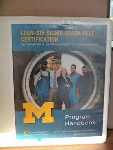 UofM Six Sigma Green Belt Course Materials and Lean Books