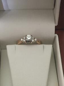 14 k gold Canadian diamond engagement ring