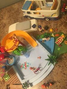 Playmobil leisure lot (includes pool, RV and much much more)