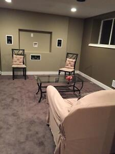 Basement suite ready to rent in October