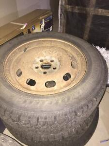 4 Nordic Goodyear winter tires 250$ driven 2 winters