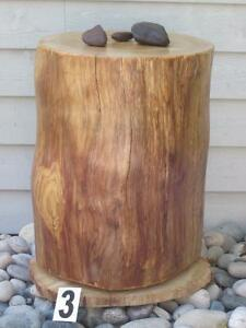 Cedar log stool / side table