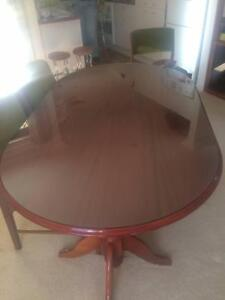 Solid extendable timber dining table Arrawarra Headland Coffs Harbour Area Preview