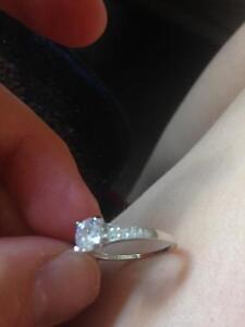 Promise Ring - 925 silver with cubic zirconia Kawartha Lakes Peterborough Area image 2