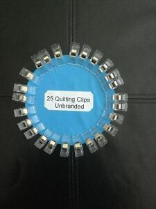 25 White Unbranded Wonder Clips for Fabric Quilting Craft Sewing