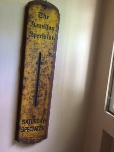 Early 40s Spectator Thermometer.Works,Man cave,Rat,Rusty stuff!