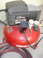 Porter cable air compressor and angled nail gun