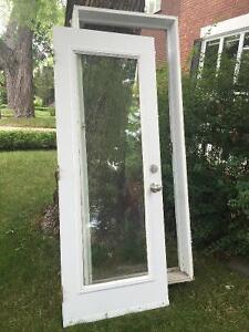 Porte en aluminium blanche extérieur à vendre