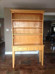 Solid oak hutch and buffet for sale