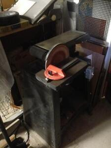 Table belt and disk sander