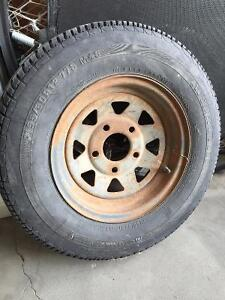 Utility Trailer tire and Rim