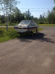 Speed boat 14' with trailler for sale or trade