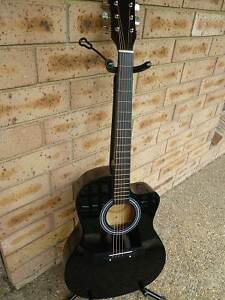 Brand New Full Size Steel String Acoustic Wooden Guitar with Capo Macquarie Park Ryde Area Preview