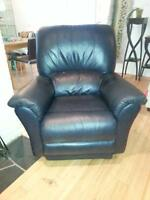 Genuine Lazyboy leather rocker recliner