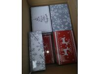 job lot christmas tins , 3 different designs , box 24 - new