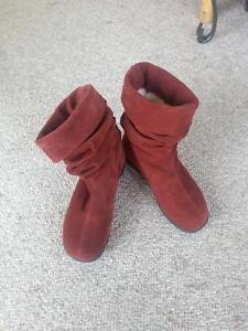 Terra Cotta  Leather Upper Boots - Reduced