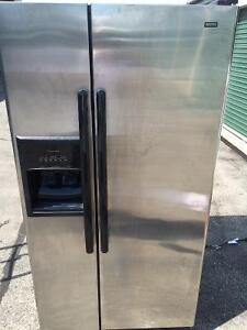 Kenmore Stainless Steel Fridge/Freezer - Ice and Water Dispenser