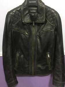 Danier Mens Leather Jacket - Biker Style Spring Price reduced! London Ontario image 1