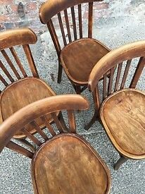 4 x Bentwood Dining Cafe Chairs