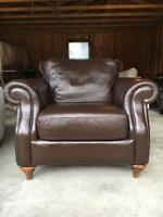 NEW Natuzzi Brown Leather Chair