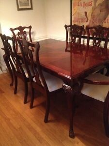 thomasville chippendale cherry dining room set ebay