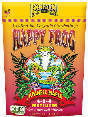 FoxFarm Happy Frog Japanese Maple Fertilizer NPK 4-3-4 & 100