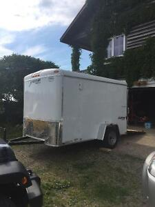Enclosed bumper pull utility trailer