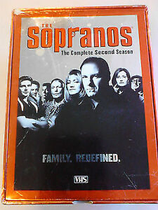 Sopranos-Season 2-New/Sealed VHS 5 Tape Box Set + Scarface