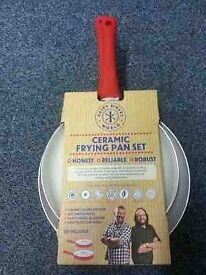 Hairy Bikers 2 Piece Aluminium Frying Pan Set..............Brand New