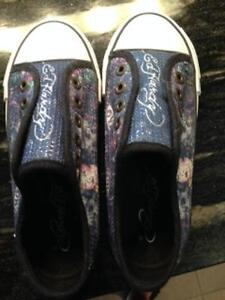 Girls New Ed Hardy Laceless Running Shoes