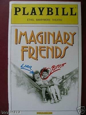Color Playbill  Imaginary Friends  Swoosie Kurtz Cherry Jones Harry Groener 2002