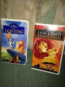 Lion King I and II VHS Movies