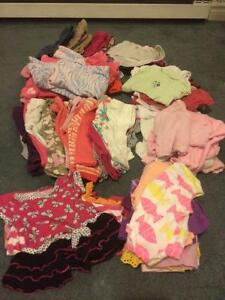 Large lot of baby girl clothes