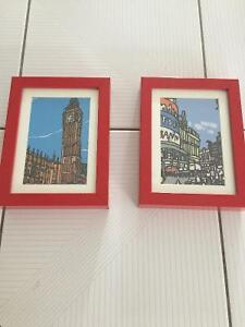 Ikea 2 red picture frame
