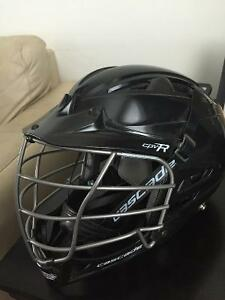 Cascade Black Field Lacrosse Helmet - Chrome Mask