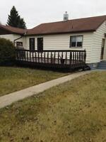Acreage with 1350 sq ft house on well treed acreage (10 acres).