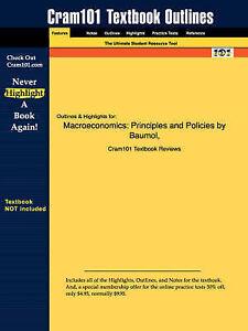 Macroeconomics: Principles and Policies (Cram101 Textbook Outlines), , Used; Goo