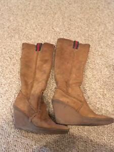 Authentic GUCCI wedge boots