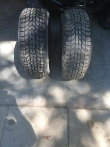 Pair of Firestone winter force snow tires
