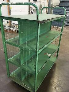 Warehouse dolly trolley mobile cart steel super heavy duty