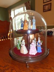 Royal Doulton collection of porcelain Victorian ladies