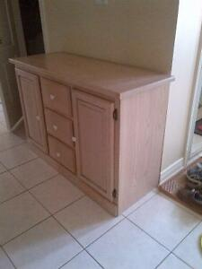 White Washed Oak Custom Built  Cabinet