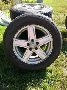 17in. Aluminum Jeep Rims with Tires