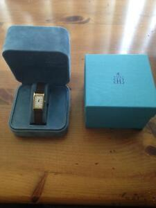 Birks Gold Tone Women's  Watch With Leather Band