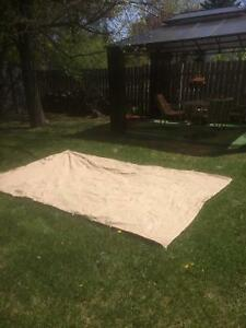 4 - new tan privacy curtains 10x14 for Gazebo