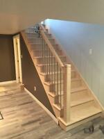Hardwood staircase & custom woodwork