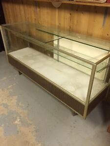 Glass display cabinet, 1970's? Asking $100