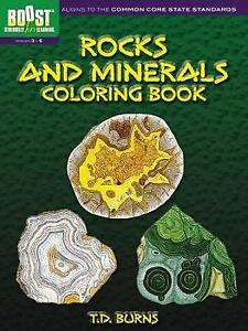 BOOST Rocks and Minerals Coloring Book (BOOST Educational Series), Burns, T. D.