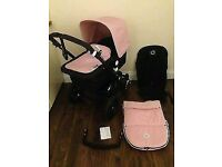 Bugaboo cameleon 3 with soft pink fabric in very good condition